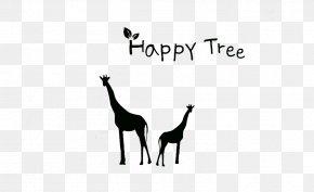 Black Giraffe Background Decoration - Northern Giraffe Download PNG