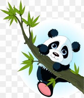 Bear - Giant Panda Bear Tree Climbing Clip Art PNG