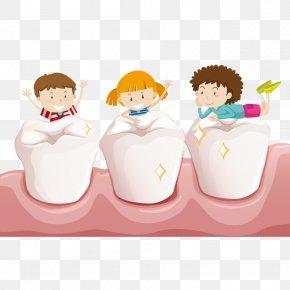 Teeth Play - Tooth Child Teeth Cleaning Deciduous Teeth PNG
