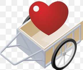 Cart And Heart - Computer Graphics PNG