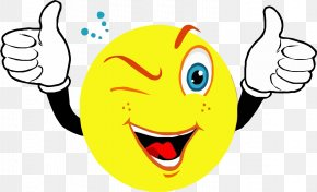 Hand Emoji - Smiley Thumb Signal Emoticon Clip Art PNG