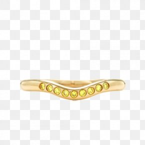 Tiffany Luxury 18K Gold With Yellow Diamond Wedding Ring - Bangle Wedding Ring Yellow PNG