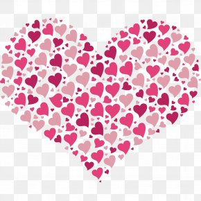 LOVE - Heart Valentine's Day Desktop Wallpaper Clip Art PNG