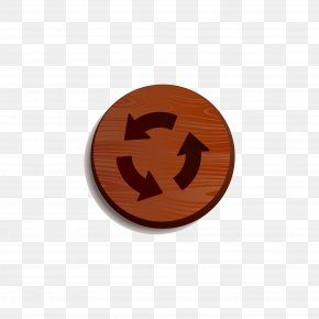 Wood Loop Play Button Material - Arrow Pointer Sign Icon PNG