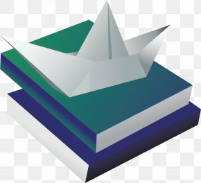 Paper Boat On The Books - Book Paper Boat PNG