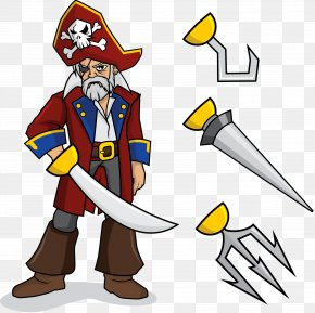 Vector Pirate - Piracy Euclidean Vector Illustration PNG