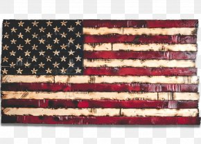 Leather Beige - American Flag Background PNG