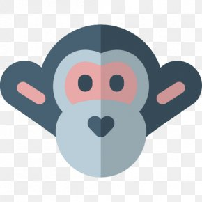 Gray Monkey - Ape Primate Digital Marketing Monkey Icon PNG
