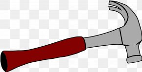 Hammer - Claw Hammer Hand Tool Gavel Clip Art PNG