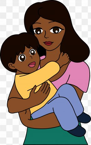 Mother And Child - Mother Drawing Child Cartoon Clip Art PNG