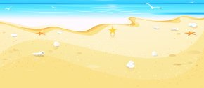 Summer Beach Cover Clip Art - Montego Bay Beach Village Clip Art PNG