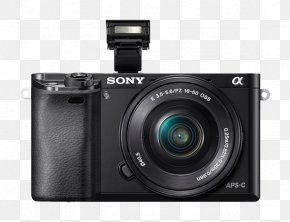 Camera - Sony Alpha 6300 Mirrorless Interchangeable-lens Camera Sony E PZ 16-50mm F/3.5-5.6 OSS Active Pixel Sensor PNG