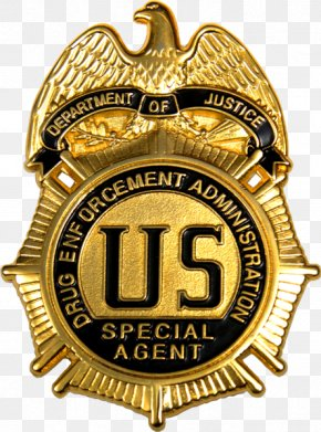 Special Police - US Drug Enforcement Administration Badge Special Agent United States Department Of Justice PNG