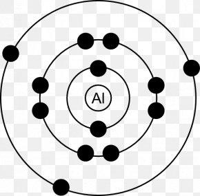 Aluminum Cliparts - Aluminium Bohr Model Atom Electron Lewis Structure PNG
