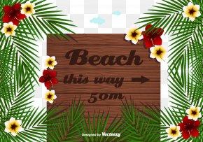 Hawaiian Beach Style Signs - Drawing Signage Illustration PNG