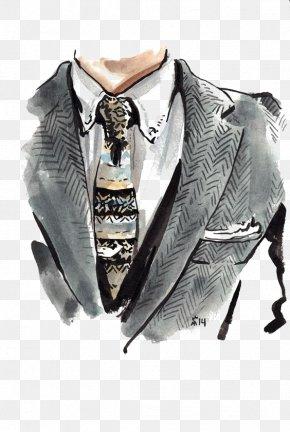 Fashion Suit - Fashion Illustration Drawing Suit Illustration PNG