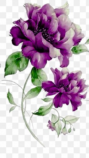 Purple Flowers - Flower Purple Floral Design PNG