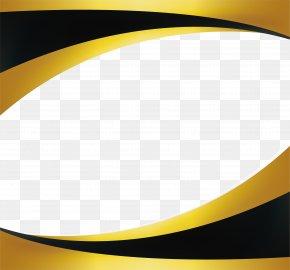 Black Gold Wave Border - Gold Wallpaper PNG