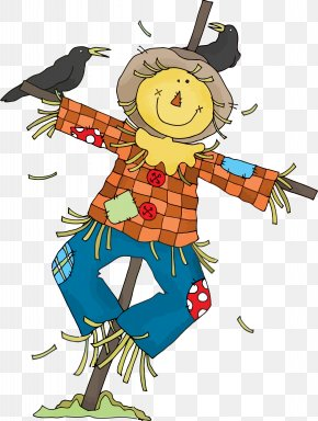 Cartoon Autumn - Scarecrow Thanksgiving Autumn PNG