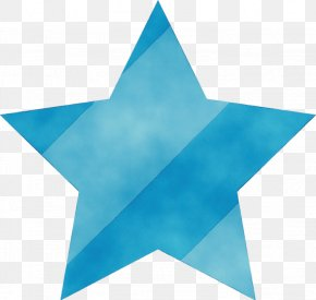 Electric Blue Star - Blue Aqua Turquoise Azure Turquoise PNG