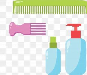 Comb Shampoo Vector Elements - Comb Graphic Design Shampoo PNG