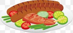 Vector Hot Dog Steak Western Cuisine - Hot Dog Sausage European Cuisine PNG