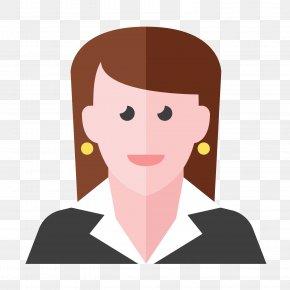 Flattened Ladies - Job Iconfinder Icon PNG