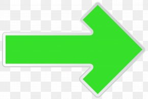 Arrow Green Right Transparent Clip Art Image - Line Angle Point Green Design PNG