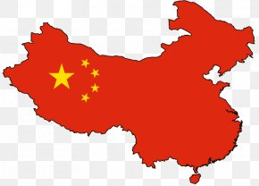 China - Flag Of China Map Chinese Communist Revolution Clip Art PNG