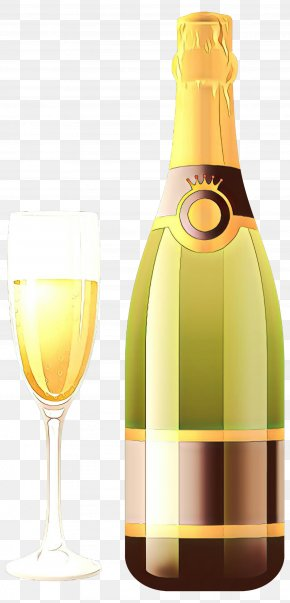 Barware Stemware - Champagne Bottle PNG