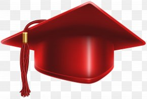 Red Cap - Square Academic Cap Hat Clip Art PNG