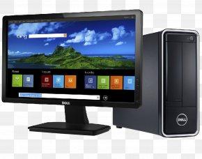 Desktop Pc - Dell Laptop Computer Monitor LED-backlit LCD Desktop Computer PNG