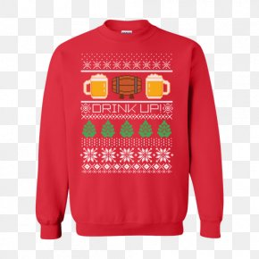 T-shirt - Hoodie T-shirt Christmas Jumper Sweater Crew Neck PNG