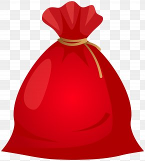 Santa Bag Transparent Clip Art - Santa Claus Christmas Gift Clip Art PNG