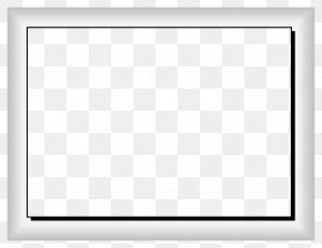 White Border Frame Image - Black And White Square Area Chessboard PNG