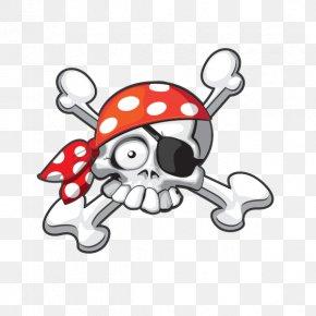 T-shirt - Jolly Roger Piracy T-shirt Totenkopf PNG