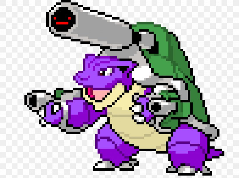 Blastoise Minecraft Pokémon Pixel Art Image Png