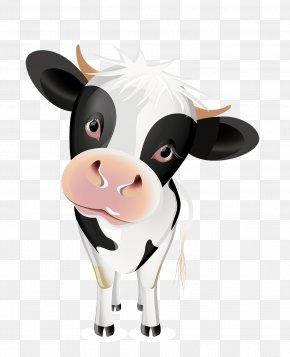 Cartoon Cow - Jersey Cattle Milk Clip Art PNG