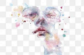 Vector Watercolor Face - Watercolor Painting DeviantArt Artist PNG