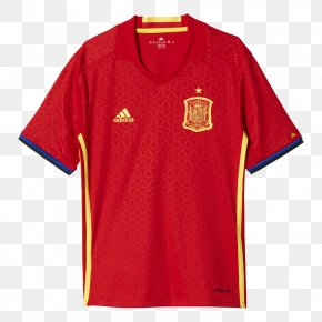 T-shirt - UEFA Euro 2016 Spain National Football Team 2018 World Cup T-shirt Jersey PNG