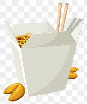 Chinese Food In Box Vector Clipart - American Chinese Cuisine Fast Food Take-out Oyster Pail PNG