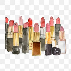 Watercolor Lipstick - The Lust List Colouring Book Watercolor Painting Drawing Fashion Illustration Illustration PNG