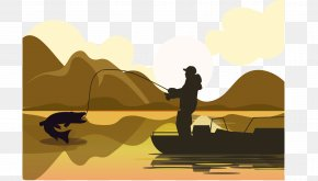 Fishing Illustration For Old Man - Fishing Net Illustration PNG