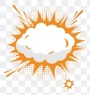 Explosion Cloud Vector Text Boxes - Explosion Text Box Cloud PNG