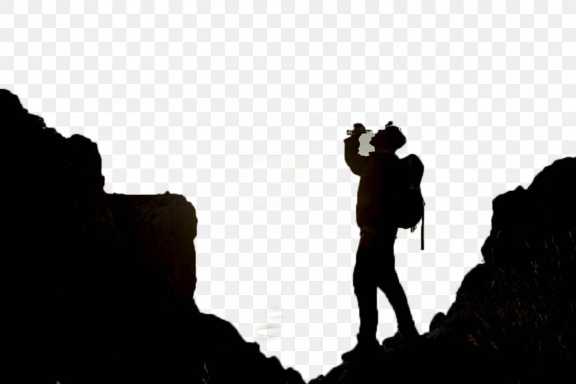 Mountaineering Silhouette Outdoor Recreation, PNG, 1100x734px, Mountaineering, Black And White, Climbing, Designer, Human Behavior Download Free