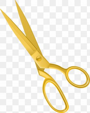 Vector Hand Painted Gold Scissors - Euclidean Vector Scissors Computer File PNG