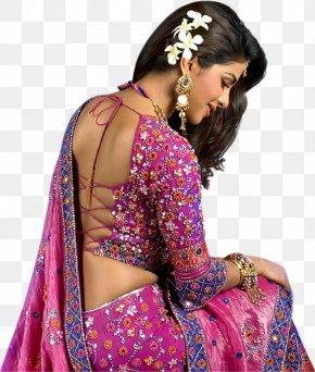 Actor - Priyanka Chopra Sari Backless Dress Blouse Actor PNG