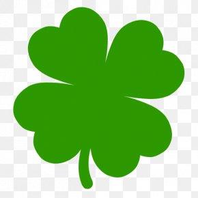Shamrock Clipart Png Four Leaf Clover - Shamrock Four-leaf Clover Saint Patrick's Day Logo Image PNG