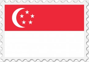 Flag - Singapore Flag Map Postage Stamps PNG