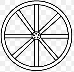 Wagon Wheel Cliparts - Wheel Coloring Book Black And White Clip Art PNG